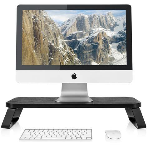 walmart return desk hours fitueyes wooden computer monitor riser save space desktop