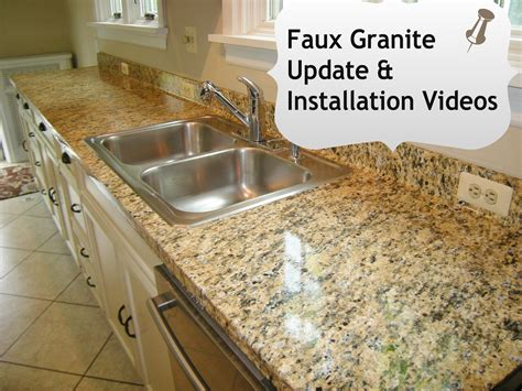 Imitation Granite Countertops by Faux Granite Kitchen Counters In Minutes With Ez Instant