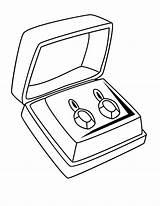 Coloring Diamond Jewelry Earrings Pair Ring Sheet Sky Engagement Getdrawings sketch template