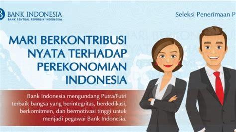 lowongan kerja bank indonesia terima karyawan besar