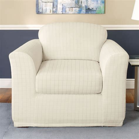 sure fit chair slipcovers sure fit slipcovers stretch squares chair slipcover atg