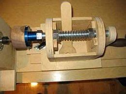 lathe threading jig homemade router powered threading