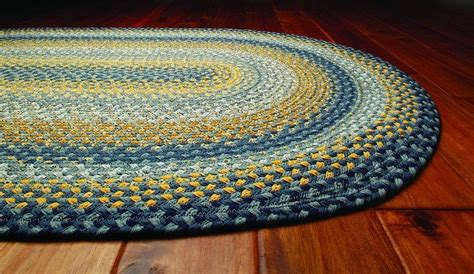 beginners braided rug   warn