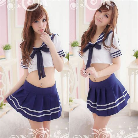 Cosplay Japanese School Girl Students Sailor Uniform Sexy