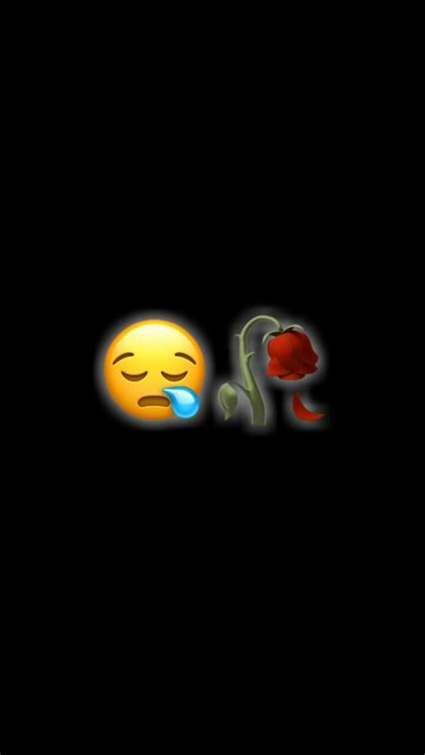 Emoji Relationship Broken Iphone Black Emoji Wallpaper by Zara Afreen Khan Sᴏᴍᴇᴛʜɪɴɢ Nᴇᴡ In 2019 Emoji