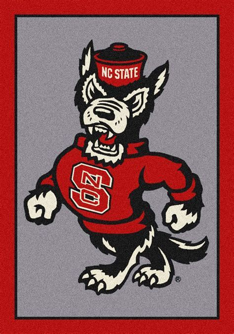 North Carolina State Wolfpack Logo Rug
