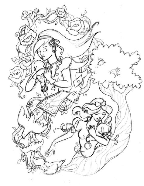 Fairy Tale Tattoo Sketch02 by fallingSarah.deviantart.com on @deviantART | Tattoos | Pinterest