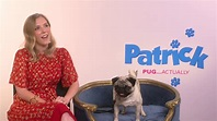 Patrick movie behind the scenes with pug Harley, Beattie ...