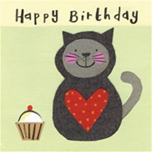 Cat Cake Child s Birthday Card