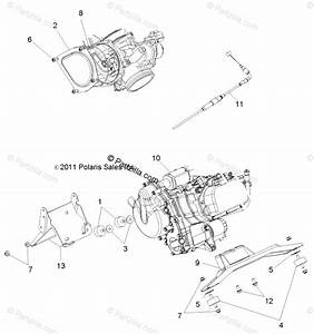 Polaris Side By Side 2012 Oem Parts Diagram For Engine Mounting