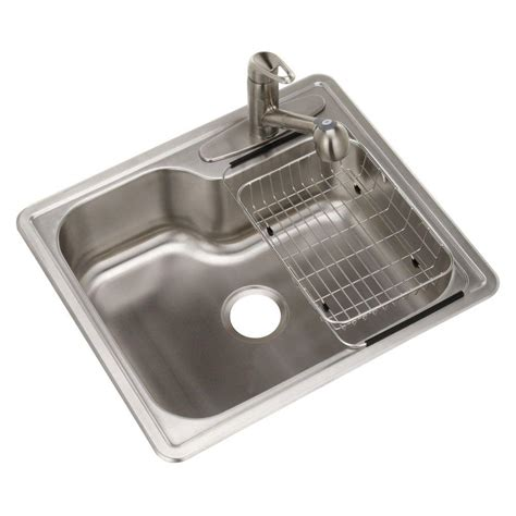 Home Depot Sink Kitchen by Glacier Bay Top Mount Stainless Steel Single Bowl Kitchen