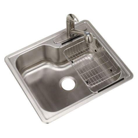home depot utility sink glacier bay glacier bay top mount stainless steel single bowl kitchen