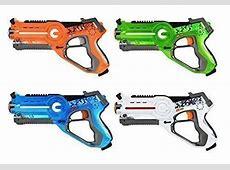 Nerf Lazer Tag Phoenix LTX Guns Tiger Lot of 2 Shotgun Attachment Gold Blue  #TigerElectronics
