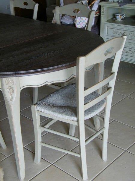 peindre chaise bois et paille chaise paillée peinte patinée chaise