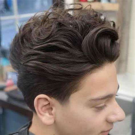 peinados ondulados  hombres