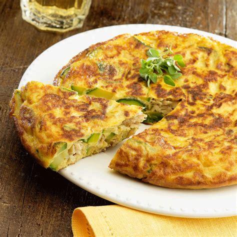 jeux de cuisine salade tortilla espagnole au thon et aux courgettes facile et