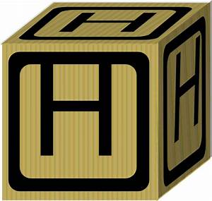 letter alphabet block h clip art at clkercom vector With block letter art