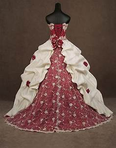 gothic corset red and white wedding dress one day With gothic corset wedding dresses