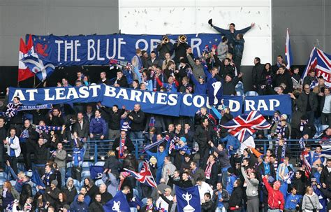 Snapshot: Rangers Fans Taunt Celtic Boss Tony Mowbray With ...