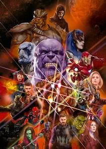 HD Infinity War Artwork Features All Members Of The Black