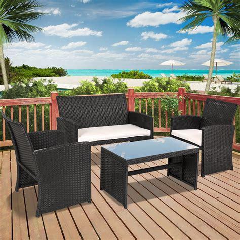 larkspur 4 wicker patio chair set icamblog