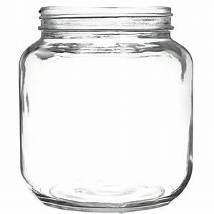 64, Oz, Clear, Glass, Round, Jar