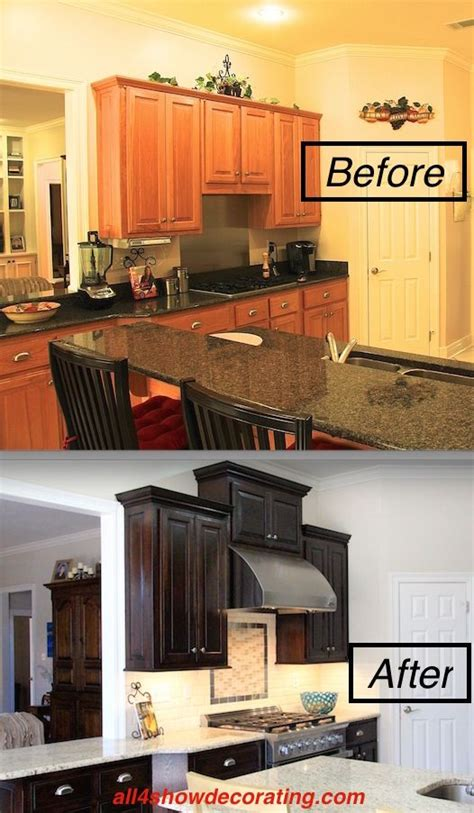 honey oak cabinets  stained  java gel stain