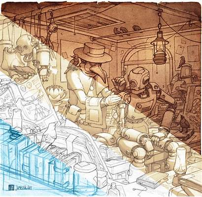 Steampunk Doctor Plague Artwork Jamesngart Illustration Pencil