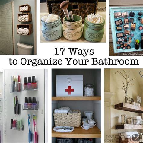 organize  bathroom     tip top shape