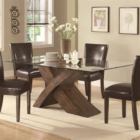 glass top dining table sets rectangle glass dining room table copper chandelier dining