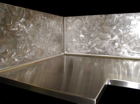 Handcrafted Metal: Zinc or Stainless Steel 'L' countertop