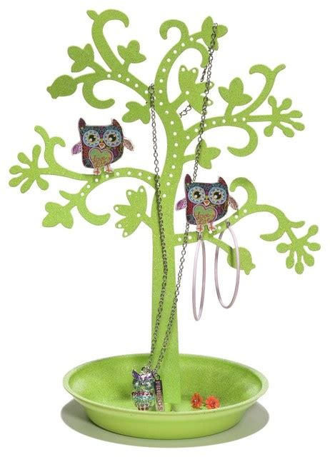 Kids Lamps For Girls by Three Cheers For Girls 68410 Owl Jewelry Holder
