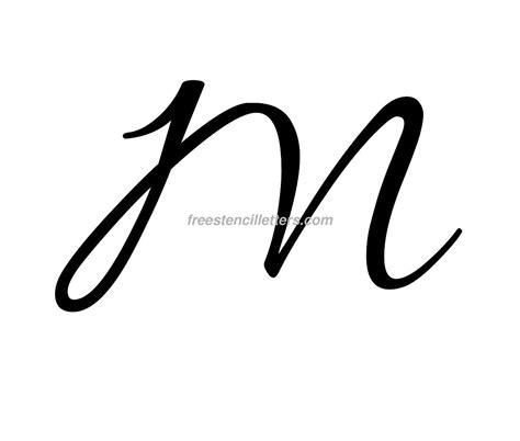 print m letter stencil