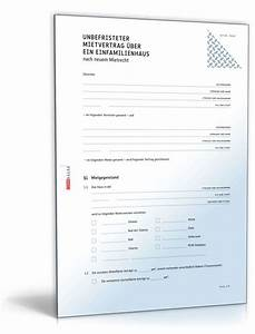 Mietvertrag Kostenlos Pdf : mietvertrag einfamilienhaus muster als pdf doc downloaden ~ Frokenaadalensverden.com Haus und Dekorationen