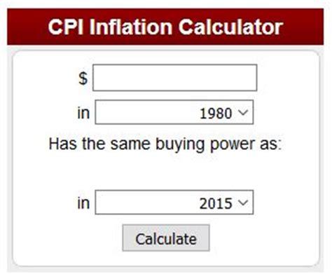 us bureau of labor statistics cpi inflation calculators from inflationdata com