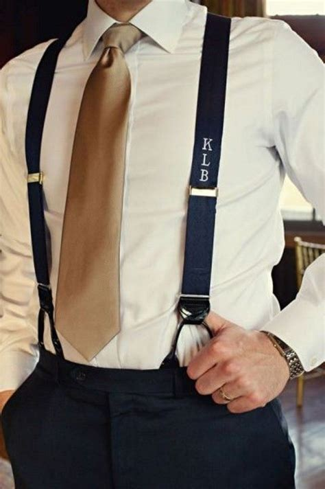 Men Suits With Suspenders Mens Suits Tips