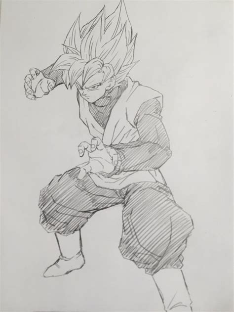 goku black rose black sketch dibujos de dragon dragon