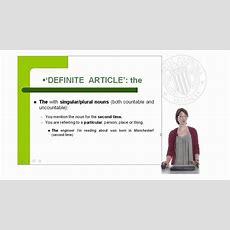 English Articles Definite, Indefinite And Zero Article   Upv Youtube