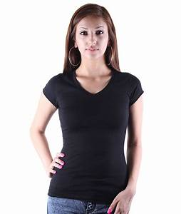 The gallery for --> Womens Blank Black T Shirt