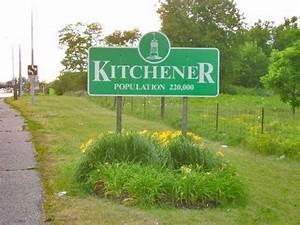 Kitchener  Ontario  Driving Around Downtown  2017