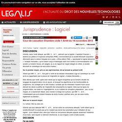 cour de cassation chambre civile jurisprudence protection des logiciels pearltrees