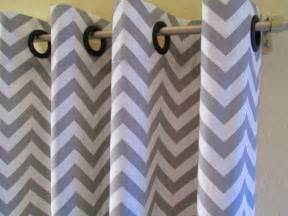 curtains pair of 25 wide storm grey and white chevron by