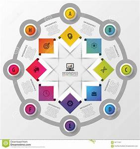 Vector Circle Infographics With Icons  Template For Presentation  Diagram Concept With 8 Parts