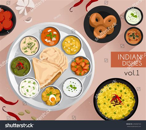 illustration cuisine food illustration indian food vector illustration stock
