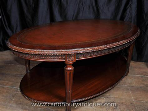 mahogany coffee table regency oval coffee table mahogany leather top tables 4899