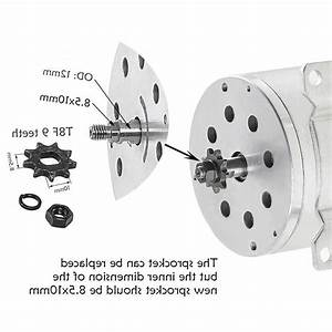 Electric Brushless Dc Motor Kit  48v 1800w 4500rpm
