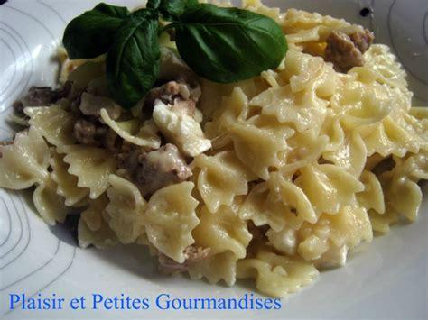 recette de pate avec steak hache farfalle au steak hach 233 et ch 232 vre plaisir et petites gourmandises