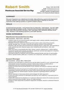 Warehouse Distribution Resume Warehouse Associate Resume Samples Qwikresume