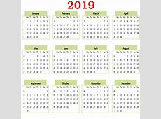 Kalender 2019 Gratis Stock Bild Public Domain Pictures