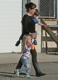 Anna Paquin spotted with her three-year-old twins in Santa ...